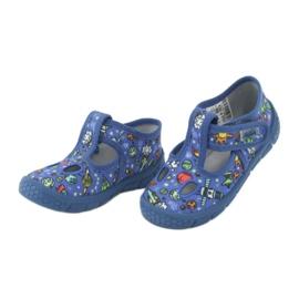 Befado  obuwie dziecięce  533P003 niebieskie wielokolorowe 5