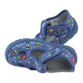 Befado  obuwie dziecięce  533P003 niebieskie wielokolorowe 7
