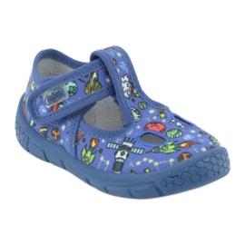 Befado  obuwie dziecięce  533P003 niebieskie wielokolorowe 3