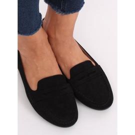 Mokasyny damskie czarne 3900 Black 3