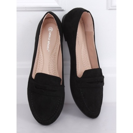 Mokasyny damskie czarne 3900 Black 2