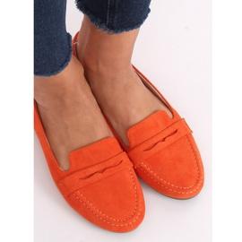 Mokasyny damskie pomarańczowe 3900 Orange 3