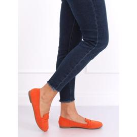 Mokasyny damskie pomarańczowe 3900 Orange 2
