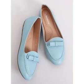 Mokasyny damskie niebieskie A8637 Blue 3