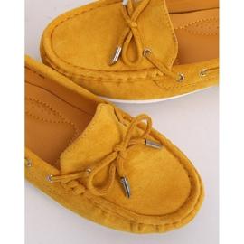 Mokasyny damskie miodowe RQ-1 Yellow żółte 3