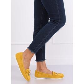 Mokasyny damskie miodowe RQ-1 Yellow żółte 1