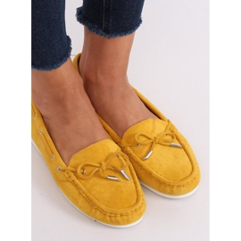 Mokasyny damskie miodowe RQ-1 Yellow żółte 2