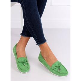 Mokasyny damskie zielone RQ-1 Green 1