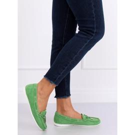 Mokasyny damskie zielone RQ-1 Green 2