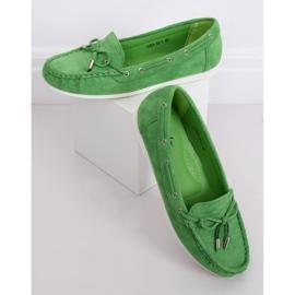 Mokasyny damskie zielone RQ-1 Green 3