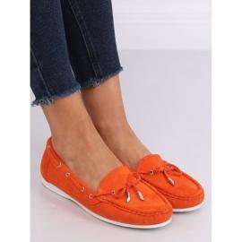 Mokasyny damskie pomarańczowe RQ-1 Orange 2