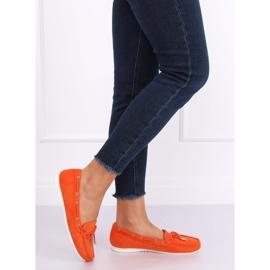 Mokasyny damskie pomarańczowe RQ-1 Orange 1