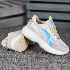 Bona Beżowe Sneakersy Z Siateczką 1
