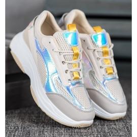 Bona Beżowe Sneakersy Z Siateczką 2