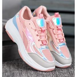 Bona Różowe Sneakersy Z Siateczką 1