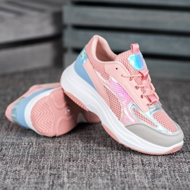 Bona Różowe Sneakersy Z Siateczką 2