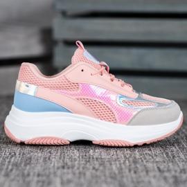 Bona Różowe Sneakersy Z Siateczką 3
