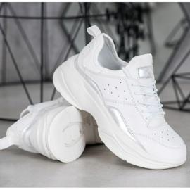 Kylie Wygodne Sneakersy Na Platformie białe szare 2