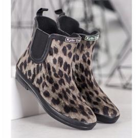 Kylie Zamszowe Kalosze Leopard Print 3