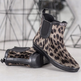 Kylie Zamszowe Kalosze Leopard Print 1