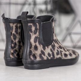 Kylie Zamszowe Kalosze Leopard Print 2