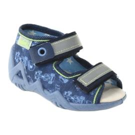 Befado żółte obuwie dziecięce 350P011 granatowe niebieskie szare zielone 1