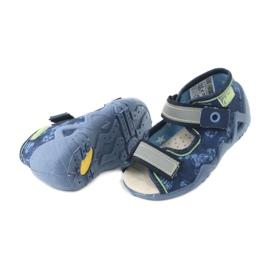 Befado żółte obuwie dziecięce 350P011 granatowe niebieskie szare zielone 4