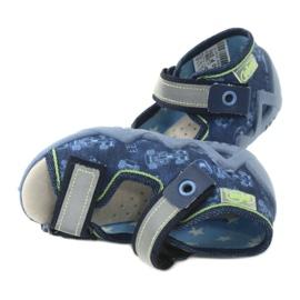 Befado żółte obuwie dziecięce 350P011 granatowe niebieskie szare zielone 5