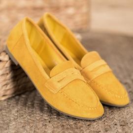 SHELOVET Casualowe Mokasyny Z Zamszu żółte 1