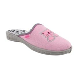 Befado kolorowe obuwie dziecięce 707Y409 różowe 2