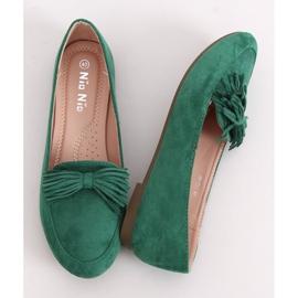Mokasyny damskie zielone 99-72A Green 1