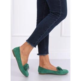 Mokasyny damskie zielone 99-72A Green 3