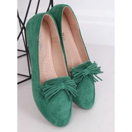 Mokasyny damskie zielone 99-72A Green 2