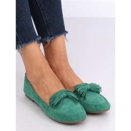 Mokasyny damskie zielone 99-72A Green 4