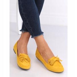 Mokasyny damskie miodowe 99-72A Yellow żółte 3