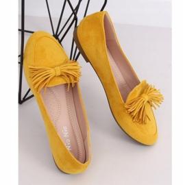 Mokasyny damskie miodowe 99-72A Yellow żółte 1