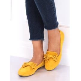 Mokasyny damskie miodowe 99-72A Yellow żółte 2