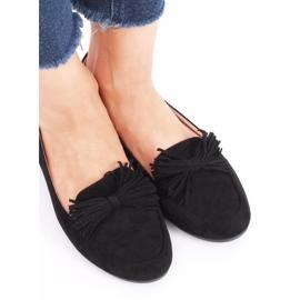 Mokasyny damskie czarne 99-72A Black 1