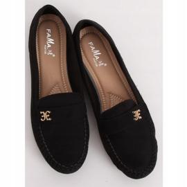 Mokasyny damskie czarne B2020 Black 1