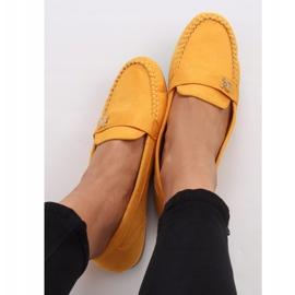Mokasyny damskie miodowe B2020 Yellow żółte 3