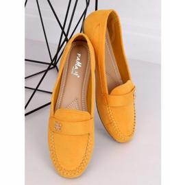 Mokasyny damskie miodowe B2020 Yellow żółte 2