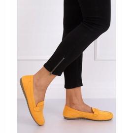 Mokasyny damskie miodowe B2020 Yellow żółte 4