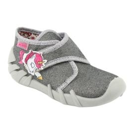 Befado obuwie dziecięce 523P016 różowe szare 2