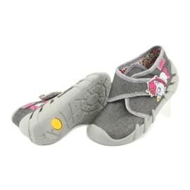 Befado obuwie dziecięce 523P016 różowe szare 4