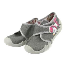 Befado obuwie dziecięce 523P016 różowe szare 3