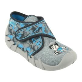 Befado obuwie dziecięce 523P014 niebieskie szare wielokolorowe 2