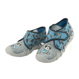 Befado obuwie dziecięce 523P014 niebieskie szare wielokolorowe 4