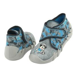 Befado obuwie dziecięce 523P014 niebieskie szare wielokolorowe 5