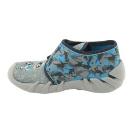 Befado obuwie dziecięce 523P014 niebieskie szare wielokolorowe 3