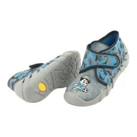 Befado obuwie dziecięce 523P014 niebieskie szare wielokolorowe 6